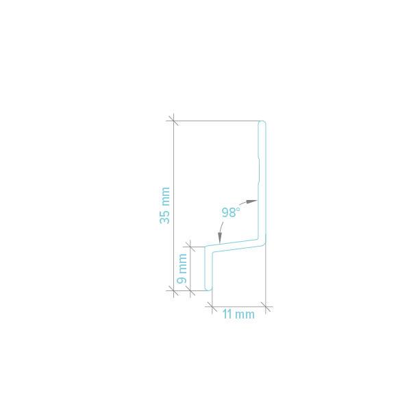 Détails Moulure horizontale pour panneaux