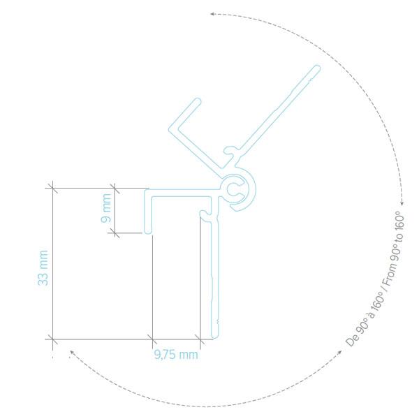 Moulure coin extérieur variable Adjustable exterior corner trim
