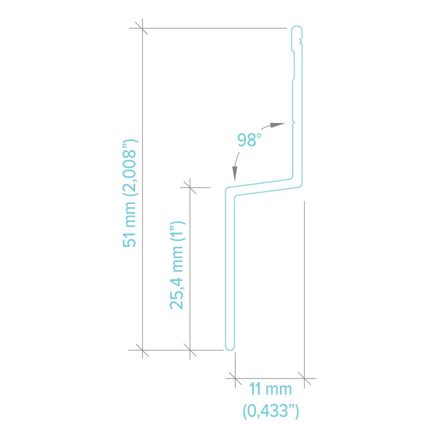 Angle moulure H100 BOLD horizontal trim angle