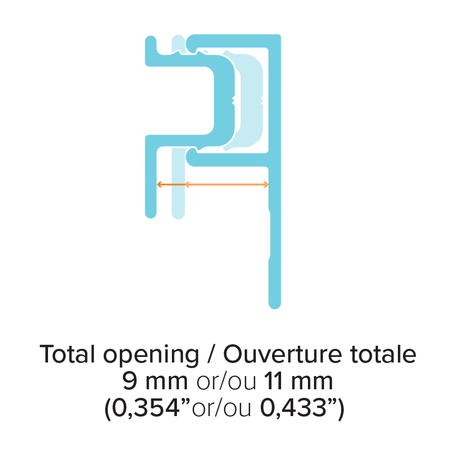 Moulure J002 Shadow trim - Ouverture totale/Total opening