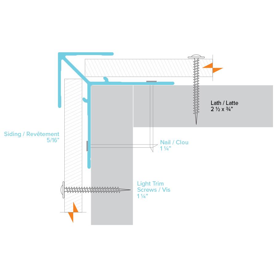 Moulure coin extérieur BOLD exterior corner trim