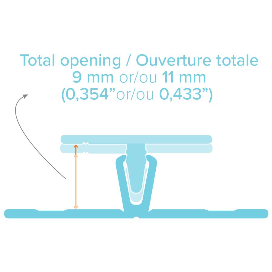 Moulure verticale clip BOLD vertical clip trim